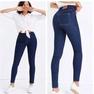 New Madewell Curvy High Rise Skinny Jeans Lucille